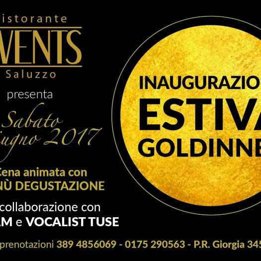 INAUGURAZIONE ESTIVA + GOLDINNER 17 giugno 2017