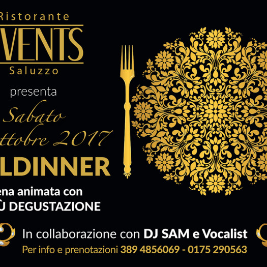 Events A5 21 ottobre 2017 GOLDINNER