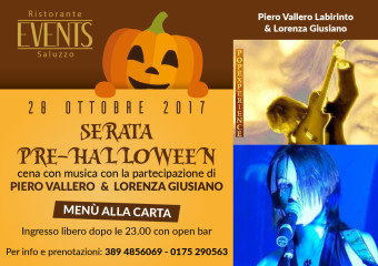 Events A5 28 ottobre SERATA PRE HALLOWEEN