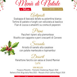 Events A5 NATALE MENU