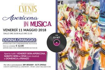 Events 11 maggio 2018 apericena