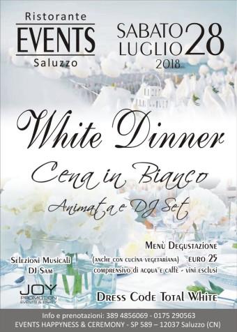 sabato 28 luglio cena in bianco