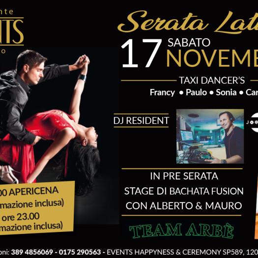 Events 17 novembre serata latina