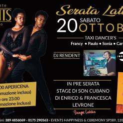 Events 20 ottobre serata latina