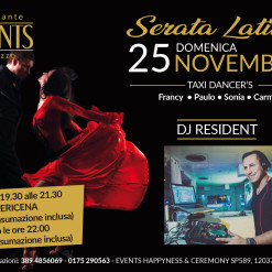 Events 25 novembre serata latina