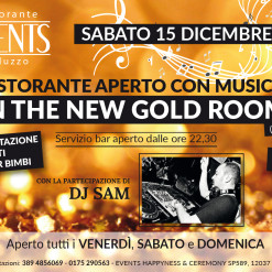 Events 15 dicembre gold room