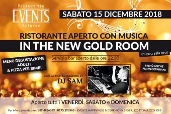 Events 15 dicembre gold room