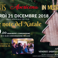 Events 21 dicembre apericena note natale