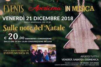 Events 21 dicembre apericena note natale